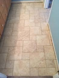 versailles pattern installation with travertine tumbled by