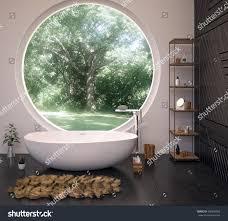 modern interior design bathroom 3d illustration stock illustration