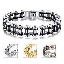 bracelet mens ebay images Motorcycle chain bracelet ebay jpg