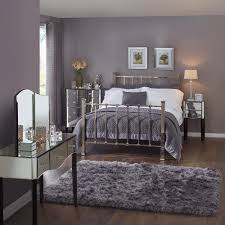 Mirror Bed Frame Classic Mirror Bed Frame With Banister Style Headboard And