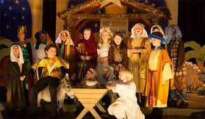 primary school children taking part in the nativity play