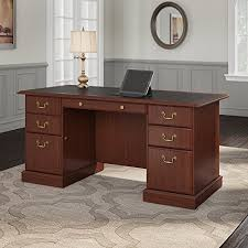 saratoga executive collection manager s desk saratoga executive desk in harvest cherry and black bush drrao