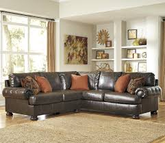 Benchcraft Leather Sofa by Benchcraft Nesbit Durablend Transitional 2 Piece Sectional With