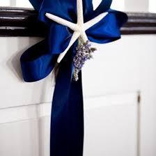 Nautical Themed Ribbon - church decor included nautical themed pew decor in lavender u0026 navy