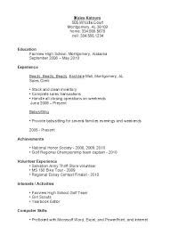 resume template for high student with no experience resume template first job for high students with no