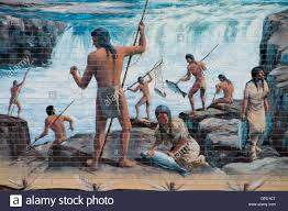 ancient indian fishing grounds mural the dalles columbia river ancient indian fishing grounds mural the dalles columbia river gorge national scenic area oregon