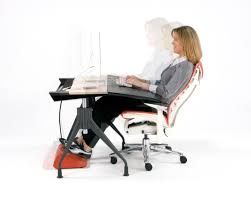 stylish ergonomic computer desk with ergonomic gaming computer