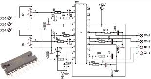 car power amplifier with ta82010ah electronic circuit