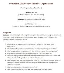non profit strategic plan template template design