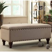 Upholstered Storage Bench Uk Ottomans U0026 Poufs Wayfair