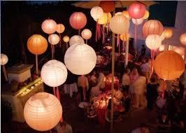 lanterne chinoise mariage boule papier deco salle fete mariage mariage de rêve