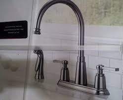 delta 21742lf emmett two handle kitchen faucet with spray chrome