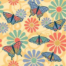 butterfly flower pattern u2014 stock vector lisann 3570895