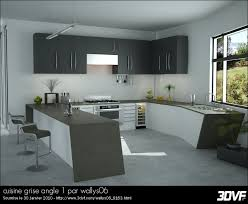 cuisine angle galerie 3dvf com cuisine grise angle 1 par wallys06