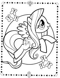 pony fluttershy coloring pages pony cartoon