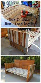 How To Build A Reclaimed by Antebellum 1862 How To Make A Reclaimed Wood Day Bed