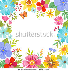 beautiful spring beautiful spring background full flowers around stock vector