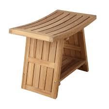 clevr teak modern folding shower seat bench dark wood images on
