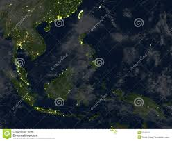 World At Night Map by Indonesia At Night On Planet Earth Stock Illustration Image