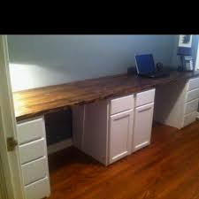 his and hers desk we built this past weekend unfinished kitchen