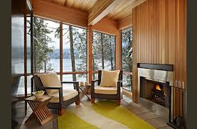 modern cabin interior lake wenatchee cabin modern family room seattle by theresa