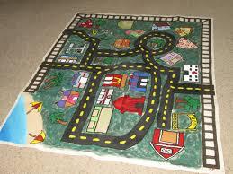 children u0027s car play mat hand painted creative play