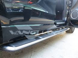 nissan frontier nerf bars side steps aluminum running boards factory oem design auto