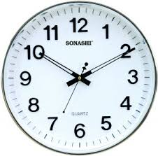 wall watch sonashi wall clock white color swc 809 price review and buy in