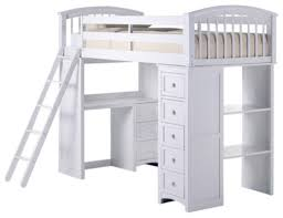 asher twin size student loft bed transitional loft beds by