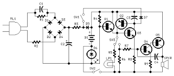 emergency light u0026 alarm circuit diagrams schematics electronic