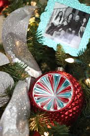 aqua and personalized tree with diy photo ornaments