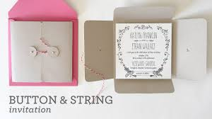 wedding invitation pockets diy wedding invitation pocket with button string closure