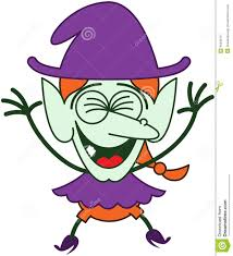 cool halloween witch laughing enthusiastically stock vector