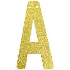 glitter letter banner garland 6inch gold letter a
