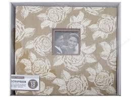 burlap photo album k company 12 x 12 in scrapbook window album burlap floral