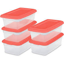Sterilite Showoffs Storage Container - sterilite set 5 6 quart storage boxes coral fire available in