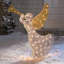 lighted christmas yard angels fun outdoor lighted christmas angel decorations animated angels
