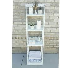 Leaning Ladder Shelf Plans Bathroom Ladder Shelf In Bathroom Diy Ladder Shelf Plans Book