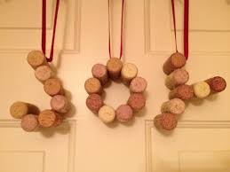 wine cork ornament set j o y cork ornaments holiday décor