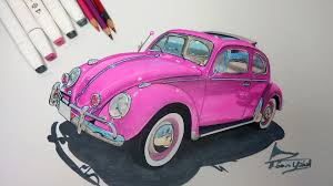 punch buggy car drawing pembe vosvos çizimi realistic car drawing youtube