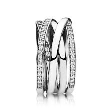 Pandora Wedding Rings by Entwined Ring Clear Cz Pandora Jewelry Us