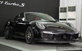 black porsche 911 turbo driven porsche 911 turbo s u2013 the mega 991 on track image 244012