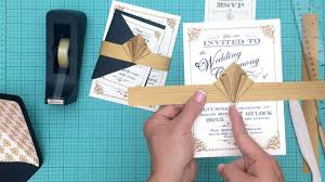diy artdeco wedding invitation youtube