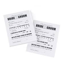 Advice For Bride And Groom Cards Wish Notes U0026 Marriage Advice Cards For The Bride And Groom 40 17