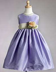 Polyester Flowers - polyester dupioni dress w yellow organza sash