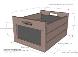 Free Toy Box Plans Chalkboard by Ana White Chalkboard Produce Crate Diy Projects