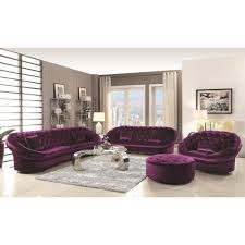 mid century modern furniture buy romanus mid century modern sectional sofa purple by coaster