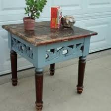 Homemade End Tables by This Ethan Allen Side Table Has Been Painted An Antique White And