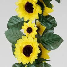 artificial sunflowers 6ft yellow artificial sunflower silk flower garland chain wedding