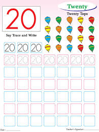 numbers writing practice worksheet 20 download free numbers